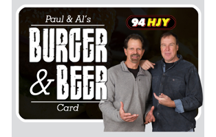 Paul & Als Burger and Beer Card